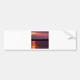 Sunset Mississippi River Arkansas Bumper Sticker