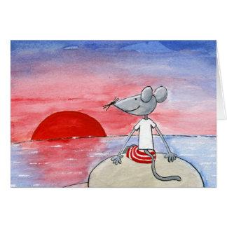 Sunset Mouse Wishing Card