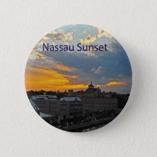 Sunset, Nassau Bahamas 6 Cm Round Badge