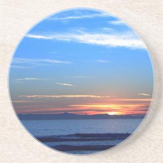 Sunset Ocean Blue Coaster