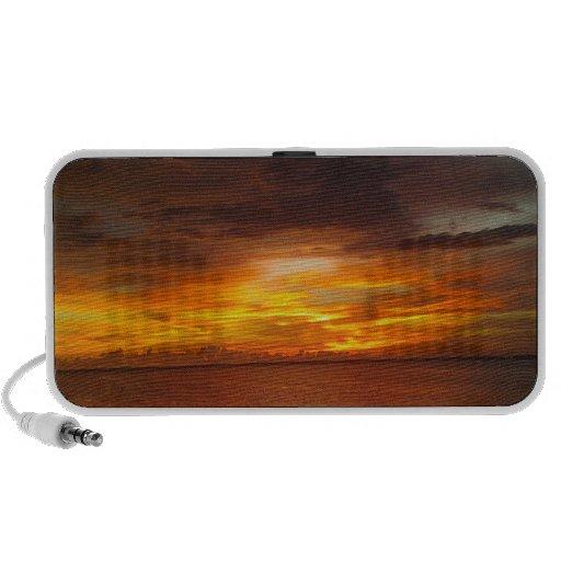 Sunset off the florida coast mini speaker