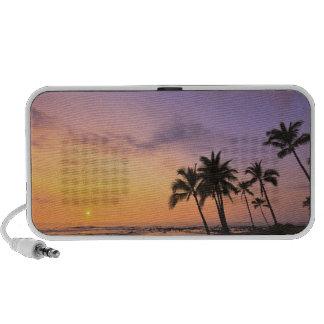 Sunset on Kahaluu Bay in Kona,Hawaii 2 Portable Speakers