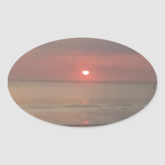 sunset on the bay stickers