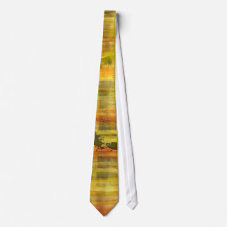 Sunset Orange Colored Abstract Modern Art Tie