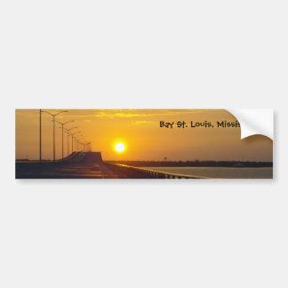 Sunset over Bay St. Louis, MS Bumper Sticker