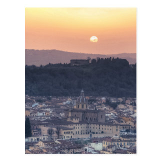 Sunset over Florence, Italy Postcard
