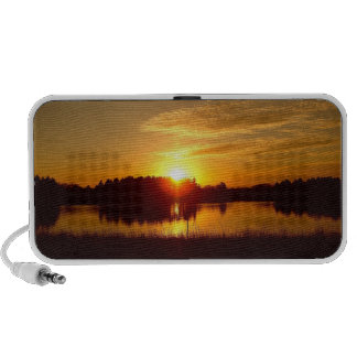 Sunset Over Lake iPhone Speakers