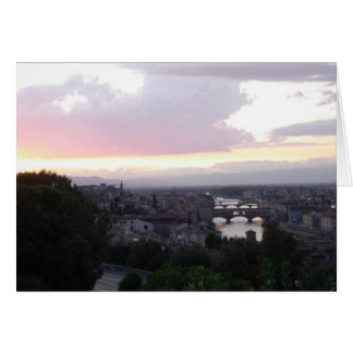 sunset over the Arno Card