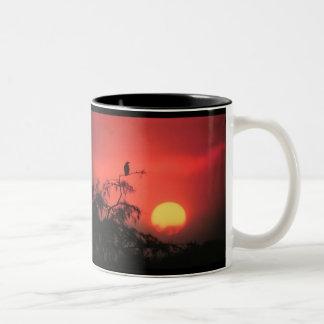 Sunset over the Everglades Two-Tone Coffee Mug