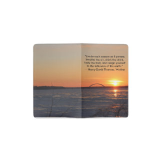 Sunset over the Frozen Mississippi River Notebook