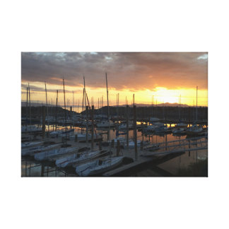 Sunset over the Great Salt Lake Canvas Prints