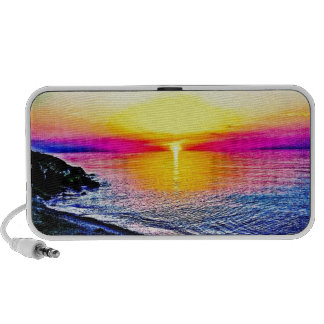 Sunset Over The Water Portable Speakers