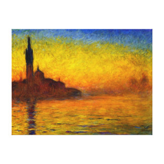 Sunset over Venice by Claude Monet Canvas Print