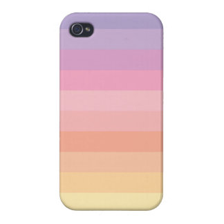 Sunset Pastel Stripes Cover For iPhone 4