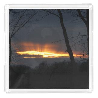 Sunset, Perfume Tray.