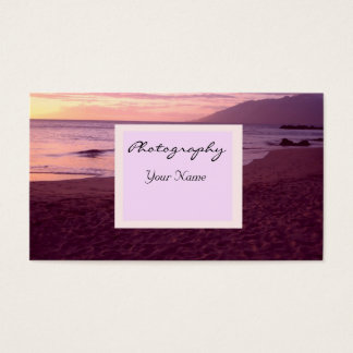 Sunset Photography Business Business Card