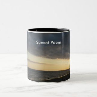 Sunset Poem Two-Tone Coffee Mug