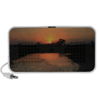 Sunset Reflection Doodle Travelling Speakers