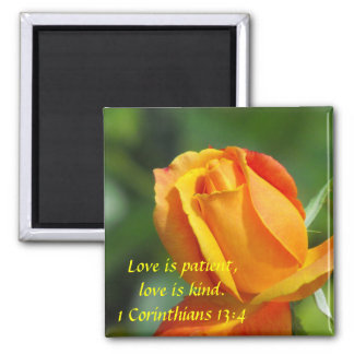 Sunset Rose - Love Square Magnet