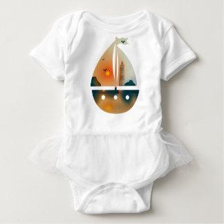 Sunset_sail boat baby bodysuit