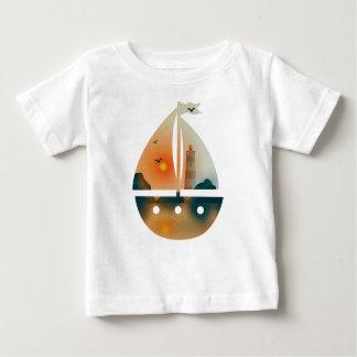 Sunset_sail boat baby T-Shirt