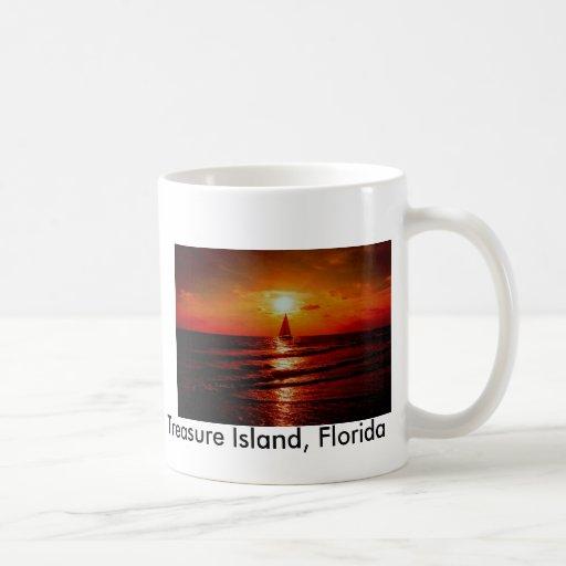 sunset sailboat, Treasure Island, Florida Coffee Mug