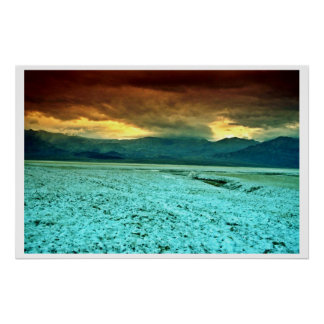 Sunset, Salt And Borate Flats Print