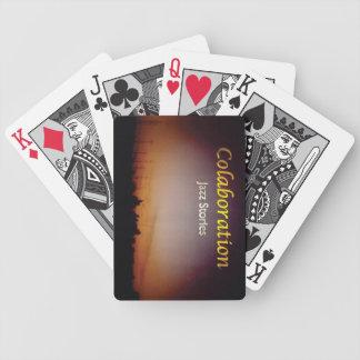 Sunset Sky Jazz Stories Album Cover Art Orange Poker Deck