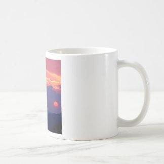 Sunset Smokey Mountain Mortons Overlook Basic White Mug