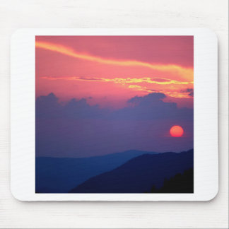 Sunset Smokey Mountain Mortons Overlook Mouse Pad