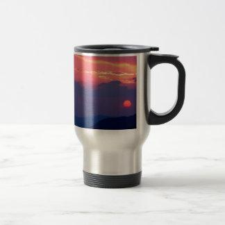 Sunset Smokey Mountain Mortons Overlook Stainless Steel Travel Mug