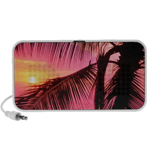 Sunset Tropical Setting Hawaii Travel Speakers