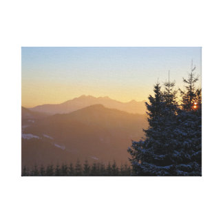 Sunset view of the Tatras mountains Canvas Print