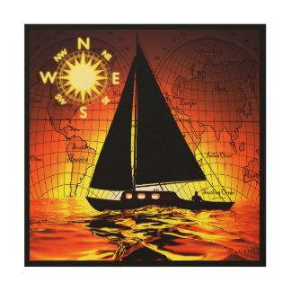Sunset Voyage Wood Prints