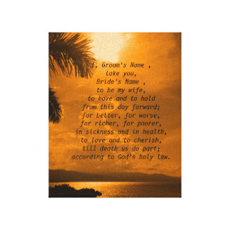 Sunset Wedding Vows Print