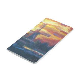 Sunset Windmill Painting Journal