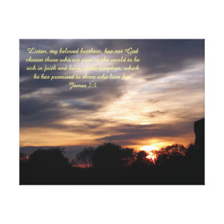 Sunset with insperational message canvas print