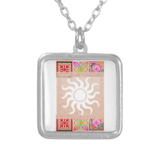 SUNSHINE and Jewels on Golden Embossed Foil Pendant