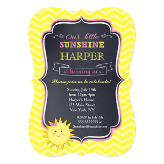 Sunshine Birthday Invitations