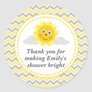 Sunshine Gift Favour Label Baby Shower