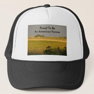 Sunshine Hayfield, Proud To Be An American Farmer Trucker Hat