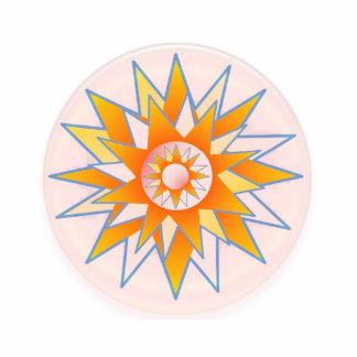Sunshine High Energy   C H A K R A Photo Sculpture Badge