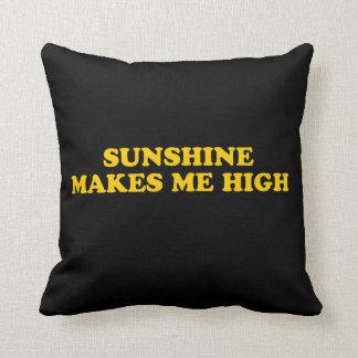 Sunshine makes me high throw pillow