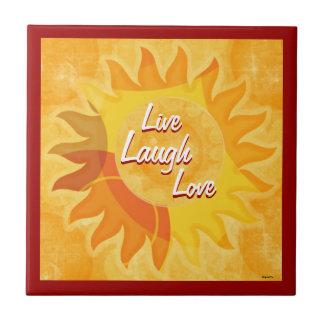 Sunshine Mix Live Laugh Love Tile
