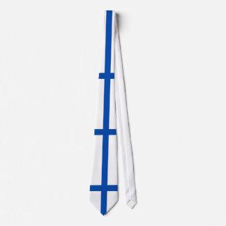 Suomen lippu kaula solmio - The Flag of Finland Tie