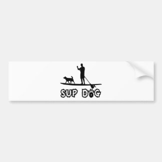 SUP Dog (Dude) Bumper Sticker