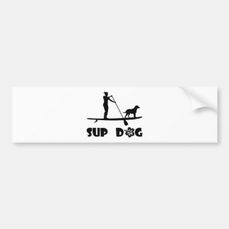 SUP Dog Standing Bumper Sticker