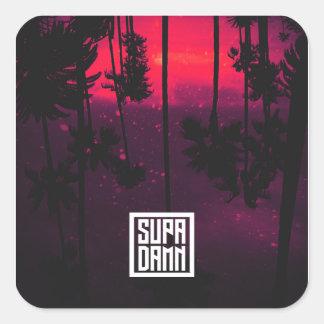 SUPADAMN Bleed Cover Art Square Sticker