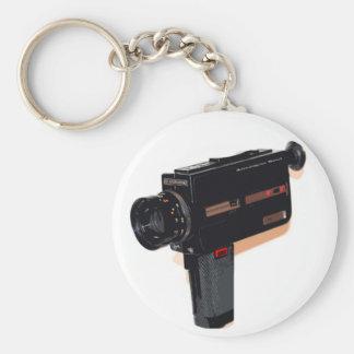 Super 8 Keyring Analogue Soul Basic Round Button Key Ring