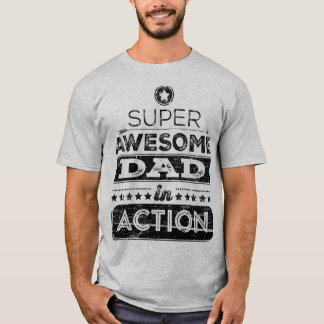 Super Awesome Dad In Action (Hipster Style) T-Shirt